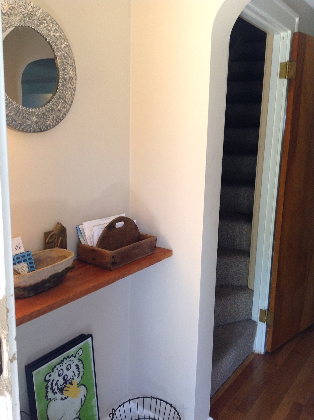 Entryway shelf & mail caddy | ShizIBoughtToday